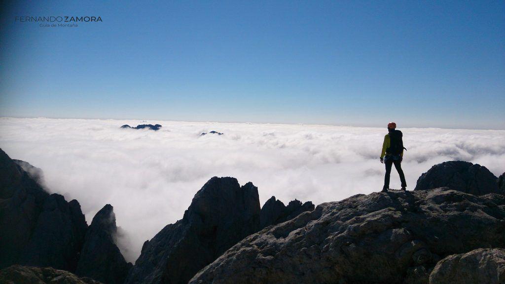 Vistas escalada Picu Urriellu