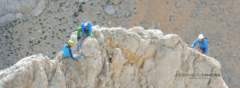 Final de la escalada de nani. naranjo de Bulnes