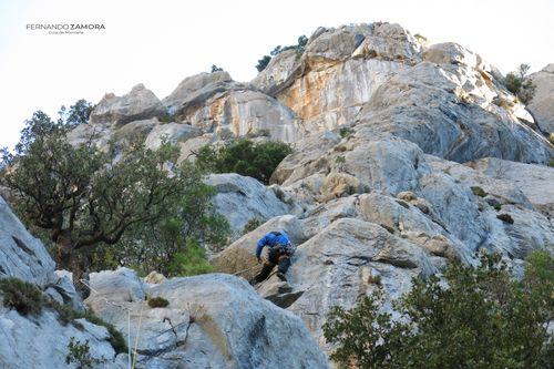 Primer largo de escalada del Cueto Valle