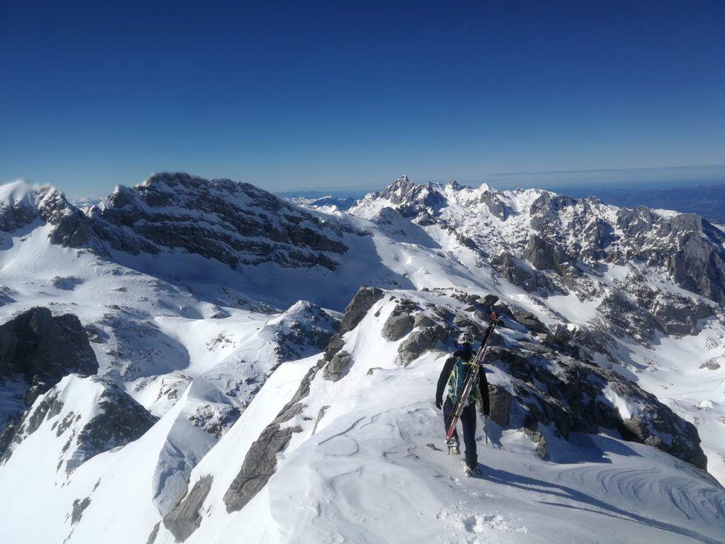 Ruta de esquí de travesía Tesorero Picos de Europa